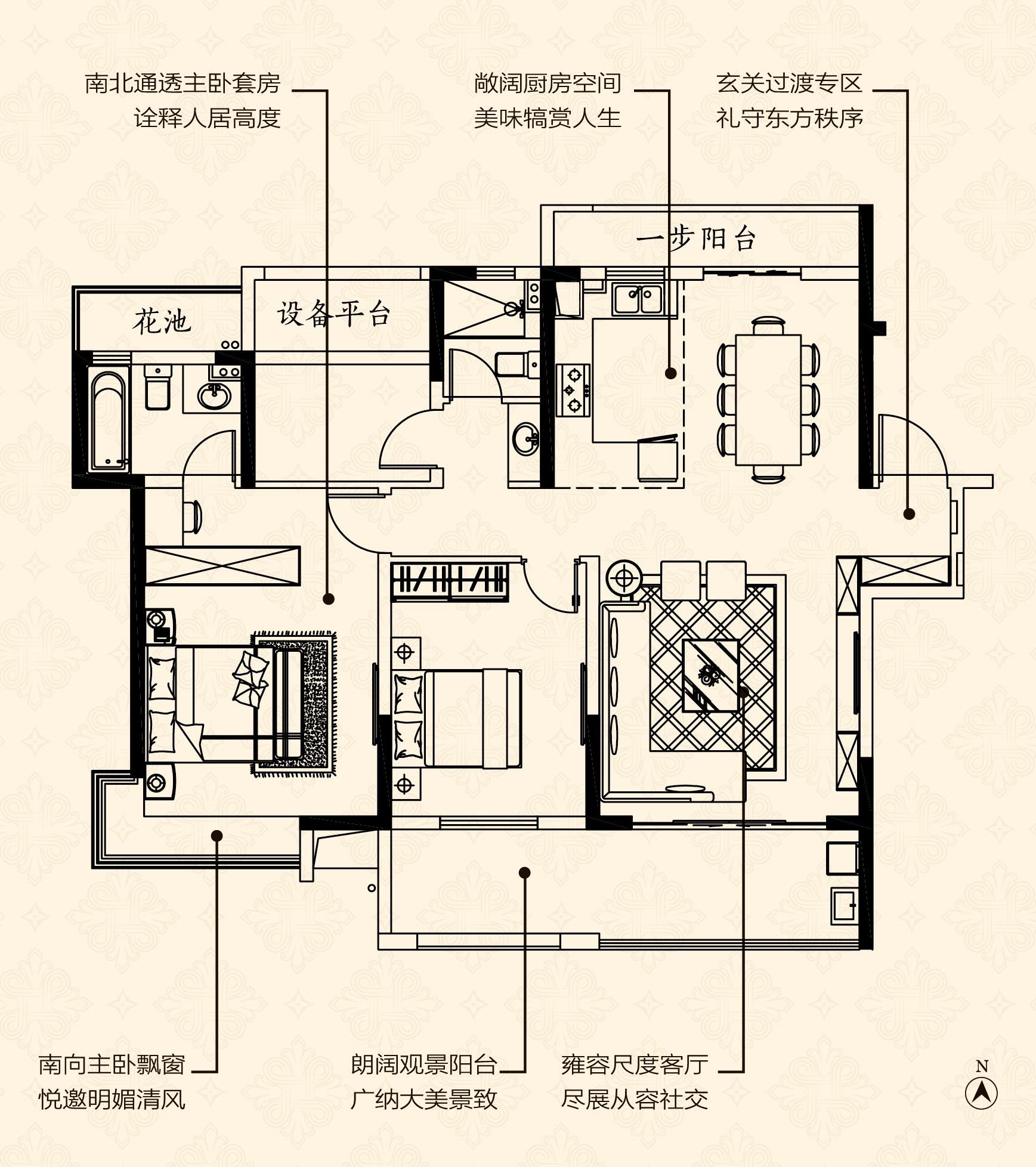 B户型-建筑面积约127㎡